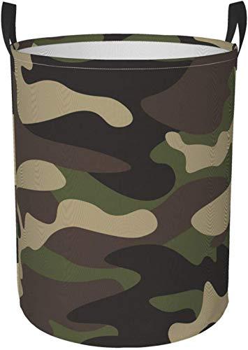 Cesto rotondo per biancheria a righe in bianco e nero con girasole, cesto portaoggetti rotondo verde marrone mimetico