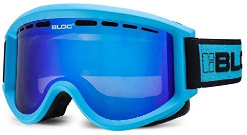Bloc Aero Ski Snowboard Brillen Blau mit Braun Revo Blau Objektiv ao11