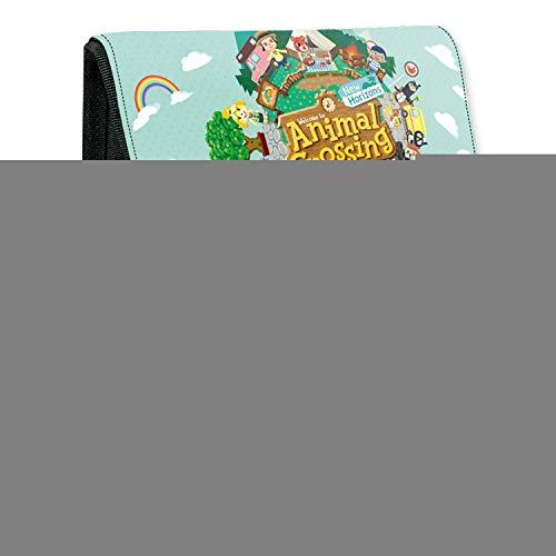 Animal Crossing Estuche para lápices para estudiantes Estuche de papelería con doble cremallera sónica para adolescentes, niños y niñas de la escuela, Forest of Forest-1,
