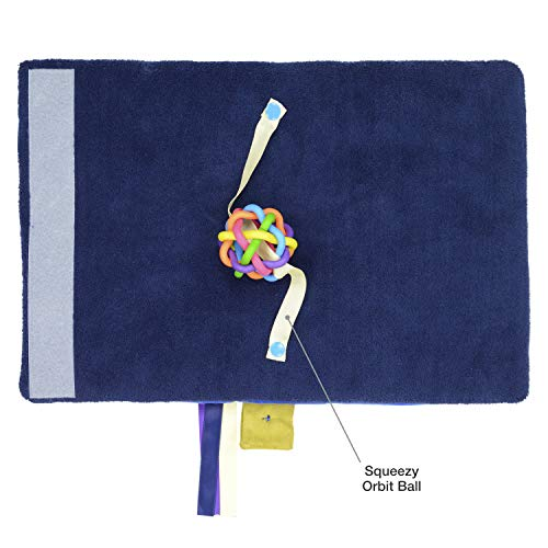 Modaliv – 2-in-1 Alzheimer's and Dementia Fidget Mat and Muff for Seniors – Sensory Lap Pad with 8 Activities – Rolls Up to Keep Hands Warm – Made to Last with Strong Construction (Blue)