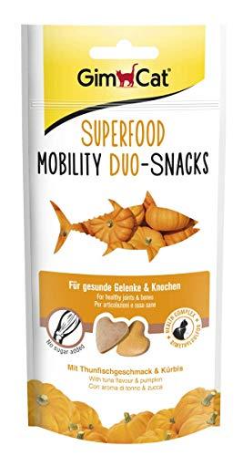 GimCat Superfood Duo-Snacks Mobility - Katzentabs ohne Zuckerzusatz für starke Knochen und Gelenke - 8 Packungen (8 x 40 g)