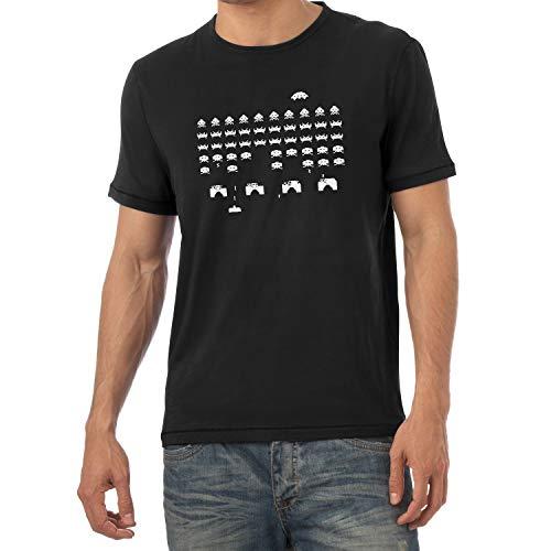 Texlab - Invaders Screenshot - Herren T-Shirt, Größe XL, schwarz