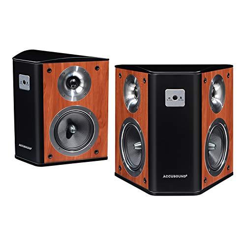 Accusound Home Theater Bipolar/Dipolar Surround Sound Lautsprecher   High Performance   Premium Sound Qualität   Wand oder Tisch Platzierungsmöglichkeiten   Paar   (gelb)