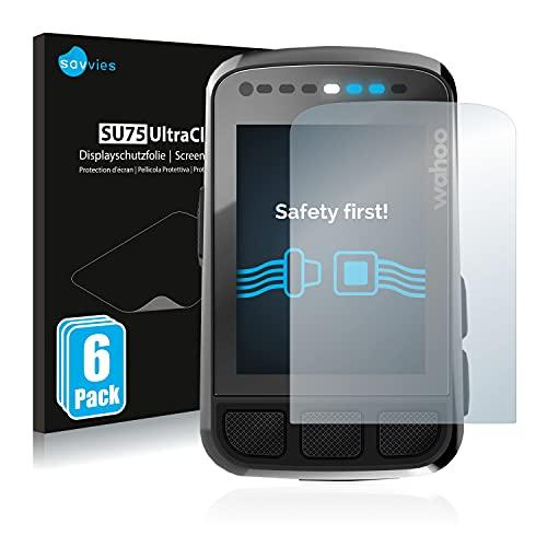 savvies Protector Pantalla Compatible con Wahoo Elemnt Bolt V2 GPS (6 Unidades) Película Ultra Transparente