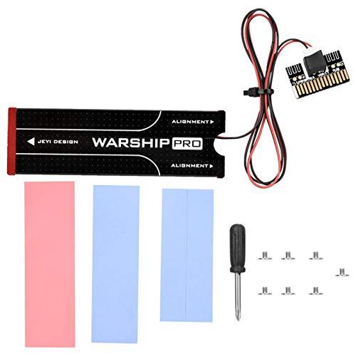 Radiador de Calor, SSD Radiador de disipación de Calor Dispositivo de enfriamiento de Aluminio Rojo Ventilador de bajo Ruido 8500RPM Admite la instalación Debajo de la Tarjeta gráfica