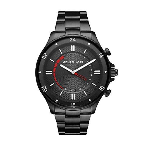 Michael Kors herenhorloge analoog kwarts horloge met roestvrij stalen armband MKT4015