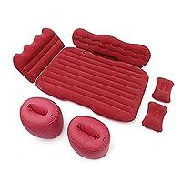 135x90cm PVCフロッジカーインフレータブルベッドセット取り外し可能な携帯用エアクッションバックシート睡眠残りのマットレス (Color : Red)