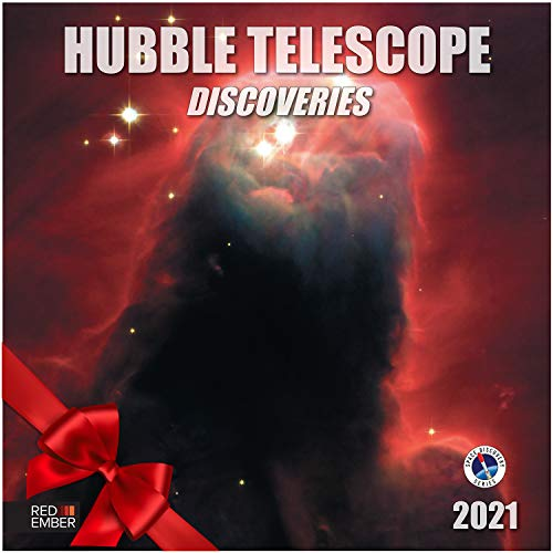 Hubble Telescope Discoveries - 2021 Wall Calendars by Red Ember Press - 12' x 24' When Open - Thick...