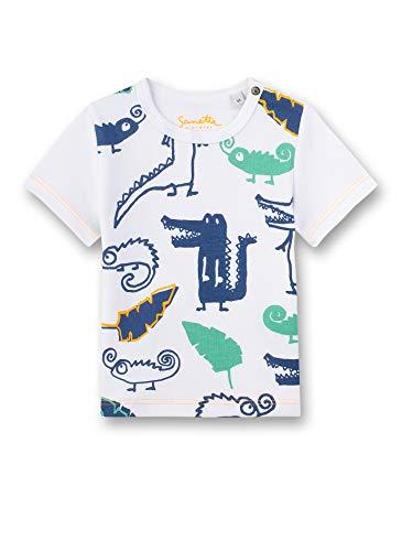 Sanetta Baby-Jungen T-Shirt, Weiß (White 10), 92 (Herstellergröße: 092)