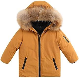0913372b117ee marc janie Boys Girls' Lightweight Packable Hooded Down Puffer Jacket  Raccoon Fur Collar Mid-
