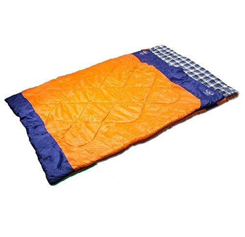 SZH&SHUID Sac de couchage extérieur respirant étanche pour 2 personnes camping, randonnée , orange