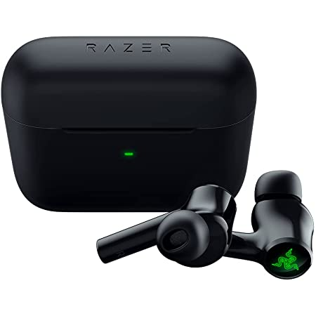 New Razer Hammerhead True Wireless (2nd Gen) Bluetooth Gaming Earbuds: Chroma RGB Lighting -60ms Low-Latency- Active Noise Cancellation - Dual Environmental Noise Cancelling Microphones- Classic Black