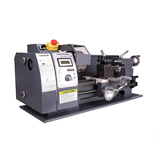 Valens Mini Tornio per Metallo 750W Tornio Parallelo per Metallo a Velocità Variabile 2250 RPM 210 x 400 MM Alta Precisione Fresatrice Digitale (210 x 400 MM)