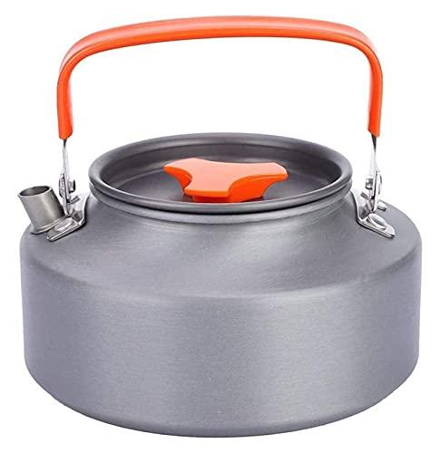 Campamento anti-escaldado de aluminio té café olla acampar kettle café tetera tetera anti-óxido Senderismo para la cocina Camping (Color : Gray, Size : 15x9x8cm)