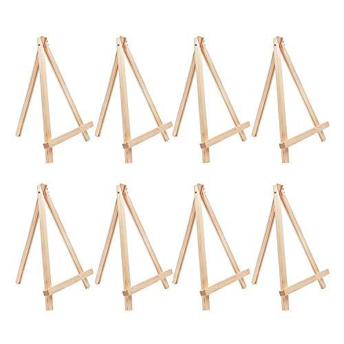 8 teiliges Kunst Staffelei Set aus Holz jeweils 30cm - Tischoberfläche Stativ Staffelei Set zur Schaustellung von Kunstleinwänden - faltbar für einfache Lagerung - Malen, Wasserfarben&Acrylmalerei