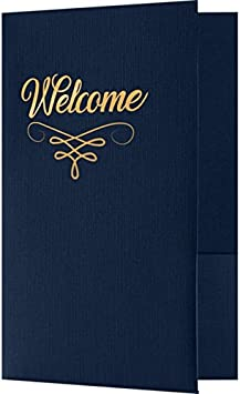 Simars WEL-DB100-FSF-25 Burgundy Linen w//Silver Foil Flourish Wedding Programs Brochures and so Much More! Standard Two Pockets | Perfect for Hotel Welcome Baskets 25 Qty. Welcome Folders