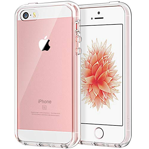 JETech Funda Compatible Apple iPhone SE 2016 (No es Compatible 2020) 5s 5, Carcasa Anti-Choques/Arañazos, Transparente