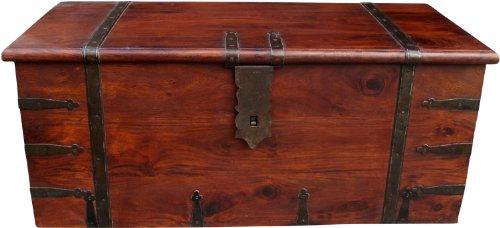 Guru-Shop Kolonialstil Truhe R251, Akazienholz, Größe: Klein (36x80x36 Cm), Truhen, Kisten, Koffer - 2