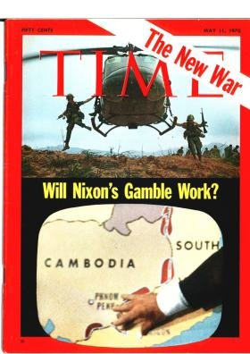 TIME MAGAZINE MAY 11 1970 50 CENT COVER PRICE SOLDIERS JUMPING OUT OF HELICOPTER COVER PHOTO