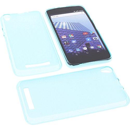 foto-kontor Tasche für Archos Access 50 4G Gummi TPU Schutz Handytasche blau