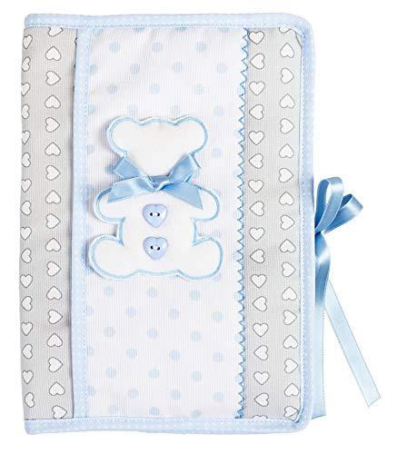 FILET Portada Para Cartilla Sanitaria   Portada De Documentos Sanitarios Del Bebé   Color Cielo, Azul Cielo