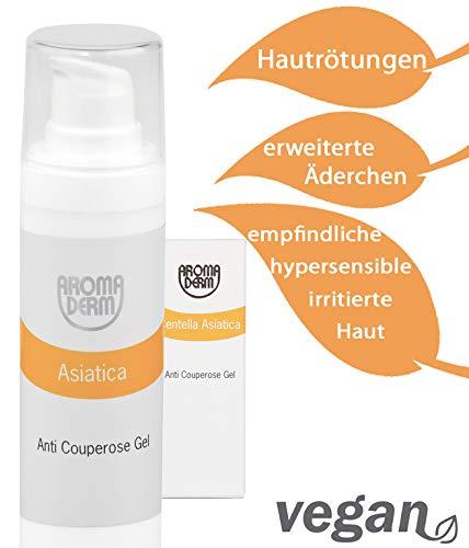 Couperose Creme Gesicht NATURKOSMETIK (30ml) VEGAN • mit Provitamin A & Jojobaöl • gegen rote Äderchen, Rötungen • beruhigende Gesichtscreme für Tag & Nacht • stärkt Gefäßwände & erhöht die Spannkraft