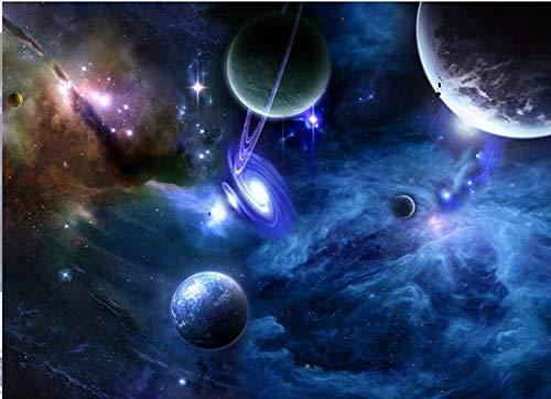 Benutzerdefinierte 3D Wandbilder Galaxy Fluoreszierende Fototapeten Feuchtigkeit Wohnkultur Tapetenrolle Wohnzimmer Schlafzimmer Tapete Landschaft, 400 * 280 cm