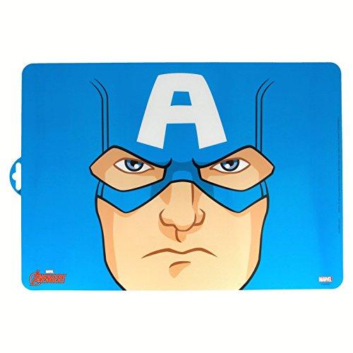 Générique - Lot de 2 Set de Table Antidérapant Captain America Marvel - Bureau Enfant - 157