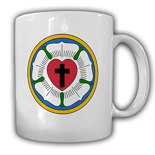 Lutherrose Symbol evangelisch lutherischen Kirche Martin Luther Tasse #13799
