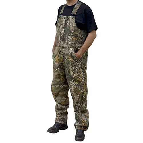 Berne Men's Original Camouflage Insulated Bib, Realtree Xtra, Large/Regular