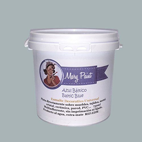 Mary Paint | Pintura para muebles efecto Chalk Paint, Azul Báltico - 750ml