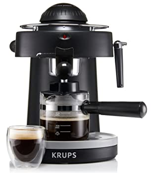 KRUPS XP100050 Steam Espresso Machine with Frothing Nozzle for Cappuccino Black