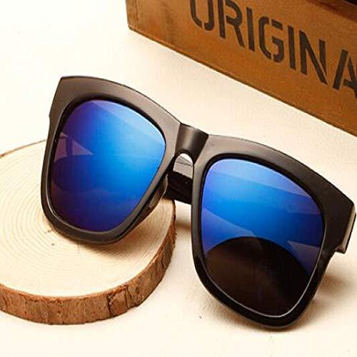 Moda Gafas De Sol Nuevo Negro Plata De Gran Tamaño Gafas De Sol Cuadradas Mujeres Recubrimiento Estilo De Verano Gafas De Sol Clásicas Mujer Big Squar Azul