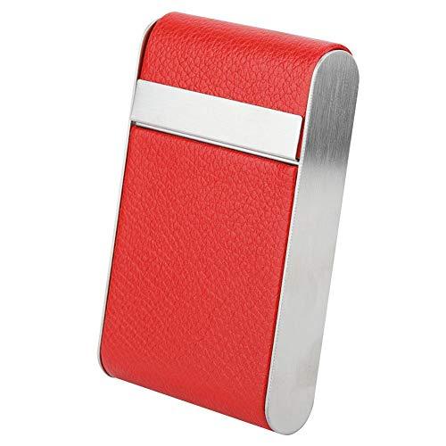 Cafopgrill Porte-Cigarettes Femme, Porte Cigarette Cuir Paquet Étui à Cigarettes Porte pour 20 Cigarettes Housse pour Cache(Rouge)