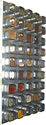 Large wall mounted stainless steeel magnetic spice rack