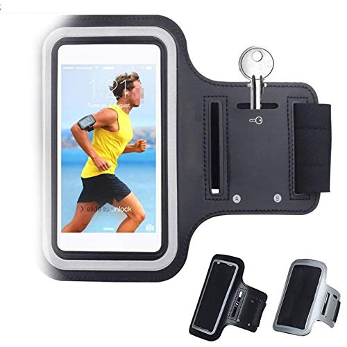 CMDZSW Negro Impermeable de los Deportes Aptitud Que se Ejecuta Bolsa del brazal del teléfono móvil for iPhone 11 Pro (Color : For iphone5 5S SE 5C)