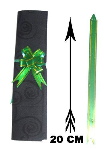 Mondial-fete - 10 noeuds à tirer verts 5 cm