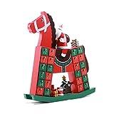 Calendario De Adviento De Troya Advenimiento De Navidad Calendario De Apertura 24 Cajones Decoración De Navidad Decoración Linda Calendarios de adviento (Color : Red, Size : 40 * 36.5 * 8.3cm)