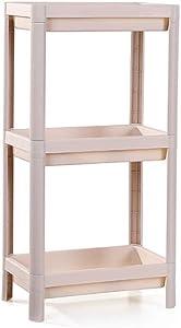 DaFei Shower Shelf, White Multi-Layer Plastic Detachable Landing Organizer Storage Shelves for Bathroom Kitchen Bedroom (Color : White, Size : Three)