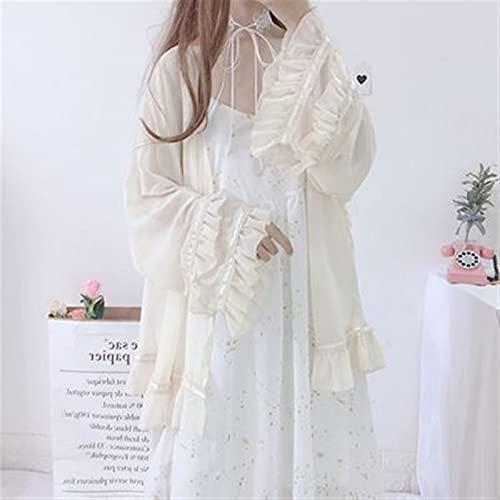 Shenme Vestido Halter Coreano de Verano de Verano + Camisa de Gasa Moda Casual Falda de Dos Piezas (Color : B, Size : One Size)