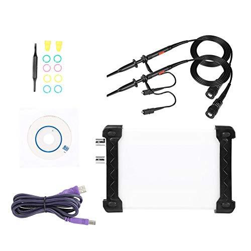 INSTRUSTAR Osciloscopio de Almacenamiento Digital USB Multifuncional 3 en 1 Basado en PC + Grabador de Datos + Analizador de Espectro, 20 MHz de Ancho de Banda(# 01)