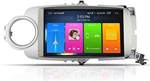 Android 9.1 Sistema di navigazione GPS per Toyota Yaris 2012-2017 - Dab auto + radio RDS FM, Internet wireless WiFi gratuito/BT, che supporta USB DSP chiama DVR/Handsfree,8-core,4G +