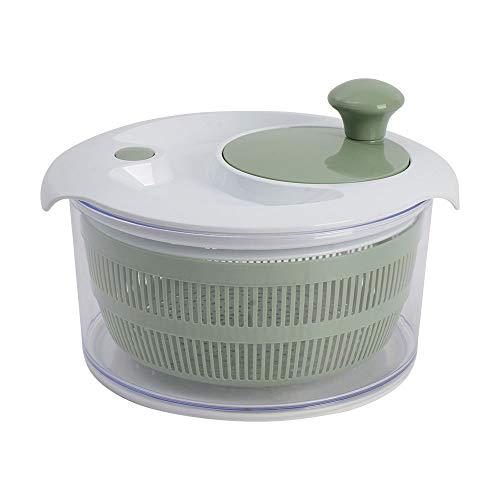 ProCook Salatschleuder - Salattrockner - mit Kurbelantrieb und Siebeinsatz - weiß und graugrün