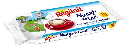 Régilait Lait Concentré Non Sucré Nuage de Lait 75 g - Pack de 20