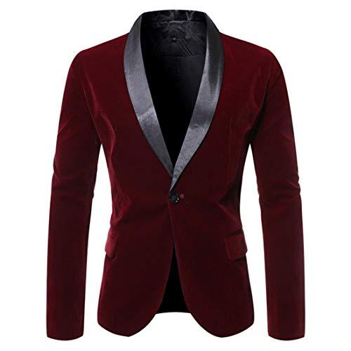 ZGRNPA Mens Blazer Single Breasted Slim Fit Suit Jacket 1 Button Wedding Tuxedo Chic Coats Suit Floral Party Dress Suit Stylish Dinner Tuxedo Jacket Wedding Blazer Halloween/Cosplay Tuxedo