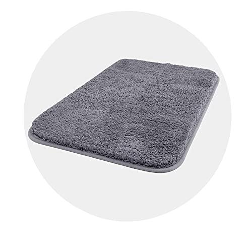 tappeto bagno nordico Carvapet Antiscivolo Tappetino Bagno Assorbente Acqua Tappeto Foccia per Il Bagno Morbido Peluche Microfibra Tappeto da Bagno(Grigio Scuro