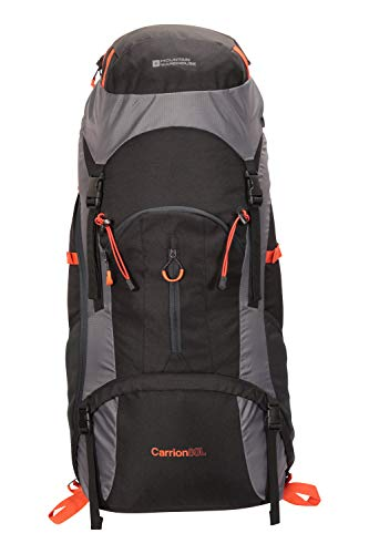 Mountain Warehouse Carrion 80L Rucksack – Soft Travel Backpack, Breathable Daypack