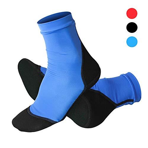 NeopSkin Neoprene Fin Socks for Sand Beach Water Sports Volleyball Soccer Swimming Diving Fishing Kayak Surfing Rafting Snorkeling (Blue, 3XL)