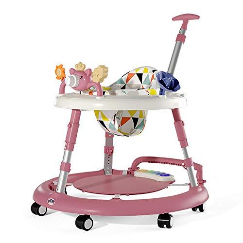 LYXCM Andador para Actividades múltiples para bebés, Ruedas universales Plegables Mesa de Comedor Centro de Juegos Interactivo Skip Hop Explore Asiento de Piano de Altura Ajustable