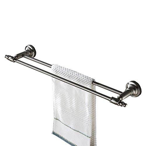 SSHA Toallero De Acero Inoxidable 304 De Toalla Doble Bar, Cuarto De Baño O Papel De Cocina Rack, Tratamiento De La Superficie Cepillado Sus Toalleros de baño
